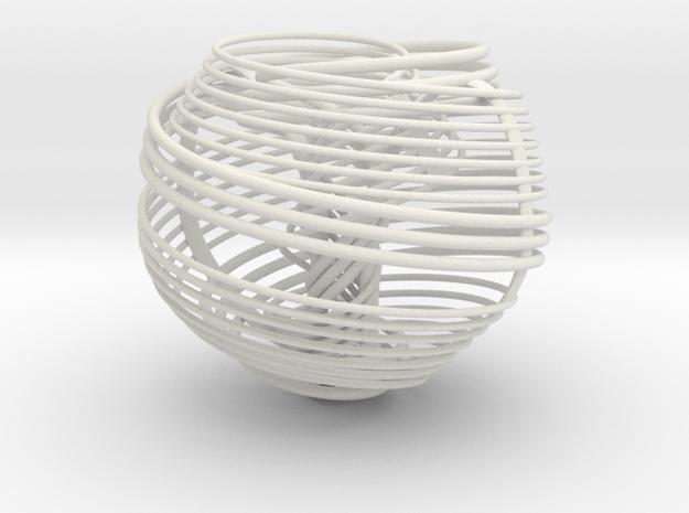 "Anu (""negative"" version) in White Natural Versatile Plastic: Small"
