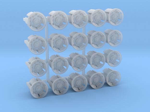 20 Felgen für Tieflader TU 3 / TU 4 in Smooth Fine Detail Plastic