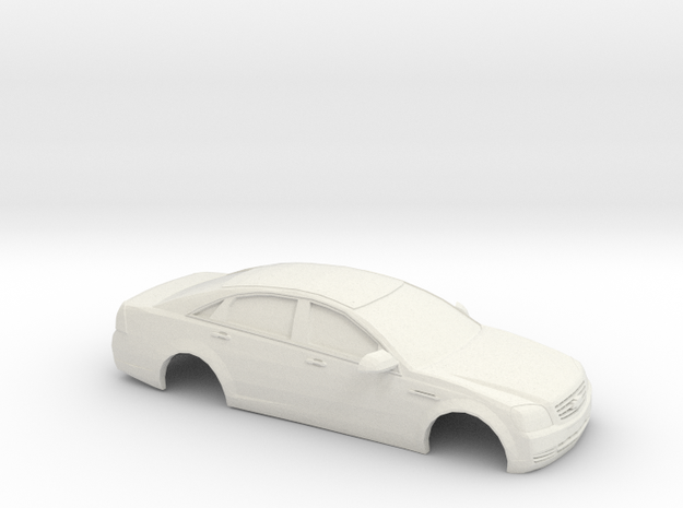 1/24 2009 Chevrolet Caprice in White Natural Versatile Plastic