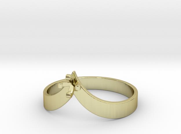 Teardrop Ring - Size 7 - 3mm Gem - 4 Prong in 18k Gold