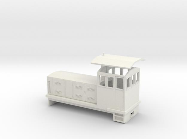 "HOn30 Endcab Locomotive (""Phoebe"") in White Natural Versatile Plastic"