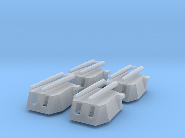 Cañón grande con 2 tubos (x4) in Smooth Fine Detail Plastic