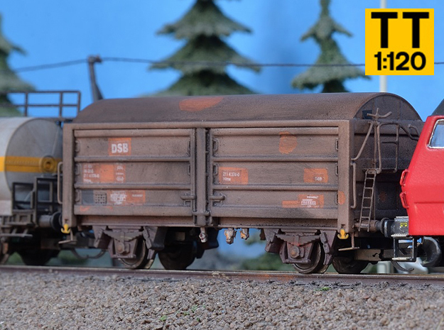 DSB Hs-t, His or Hims In 1:120 TT scale in Smooth Fine Detail Plastic
