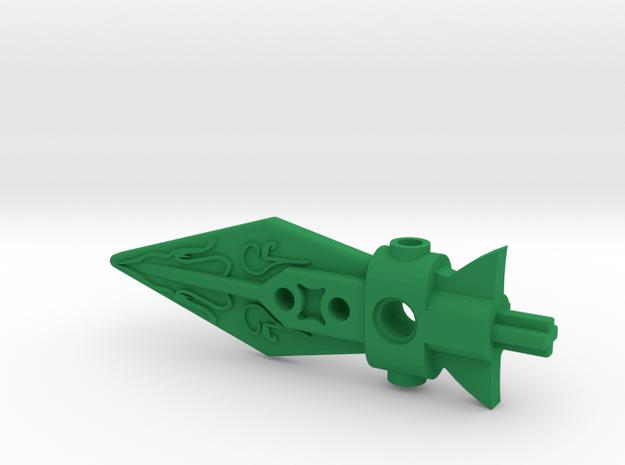 Lhiira's Spear in Green Processed Versatile Plastic