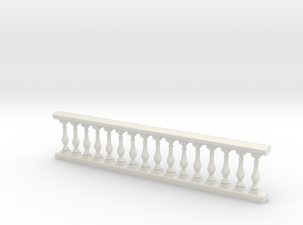 Baluster Ver 01 .1:24 Scale in White Natural Versatile Plastic