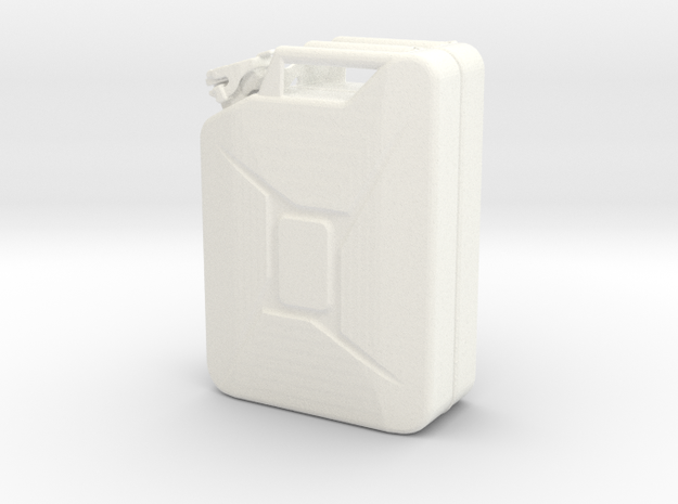 1:8 jerry can custom made in White Processed Versatile Plastic