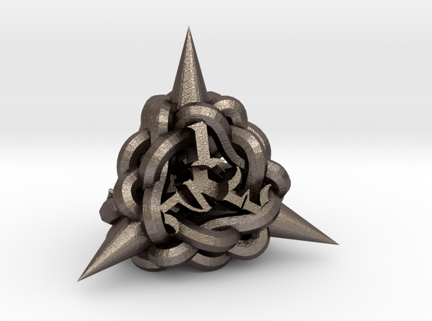 Knot D4 in Polished Bronzed-Silver Steel
