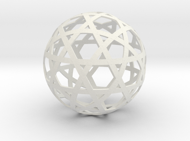Stripsphere12b in White Natural Versatile Plastic