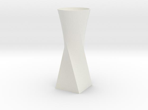 Twist Vase in White Natural Versatile Plastic