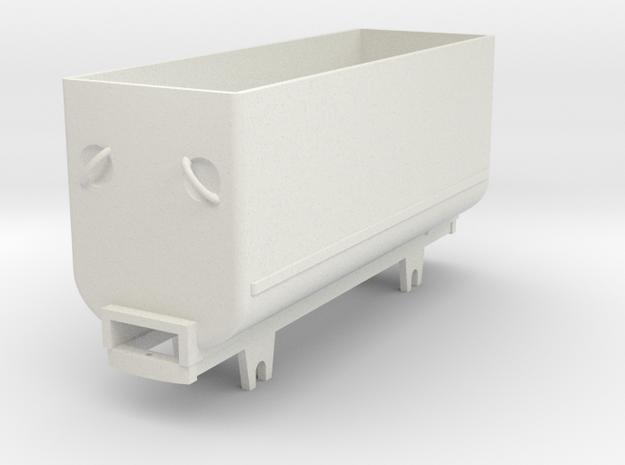 BND tub, long version in White Natural Versatile Plastic: 1:35