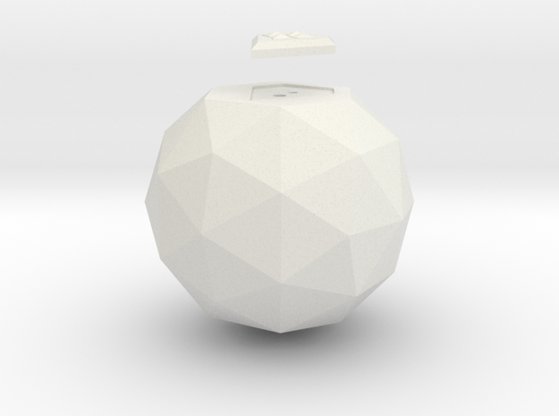 Smallville Kandor Orb and Shield in White Natural Versatile Plastic