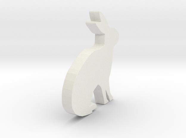3D Printable Bunny - Easter Gift in White Natural Versatile Plastic