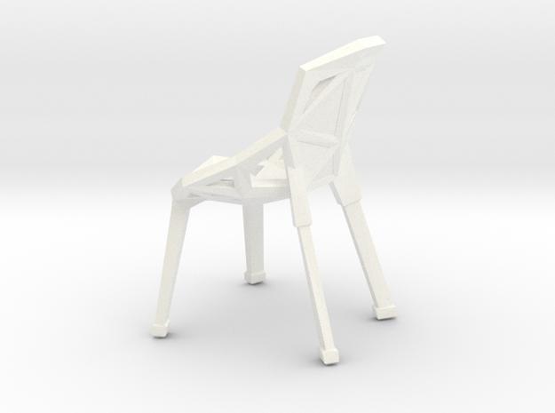 "Geo-Chai 1/2"" Scaled in White Processed Versatile Plastic"