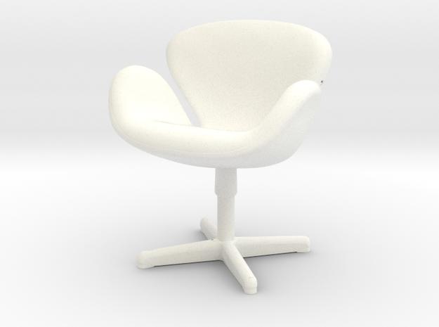 Arne Jabobson - Swan Chair in White Processed Versatile Plastic