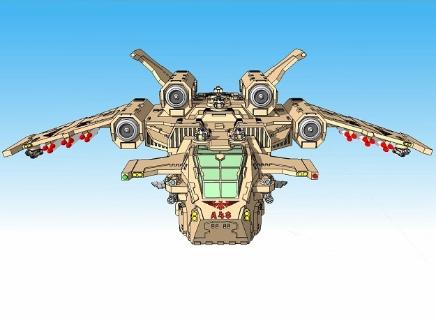 "6mm ""Birdstorm"" Superheavy Dropship"