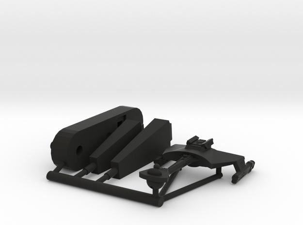 6k Klingon Battle Cruiser D7 in Black Natural Versatile Plastic