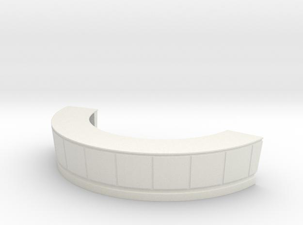 Reception Desk 1/43 in White Natural Versatile Plastic