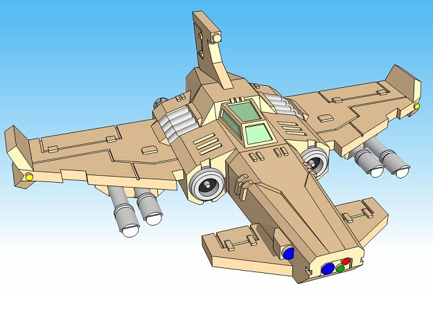 6mm Thunderclap Fighter (4pcs) in Smooth Fine Detail Plastic
