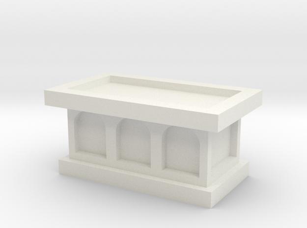 Church Altar 1/24 in White Natural Versatile Plastic