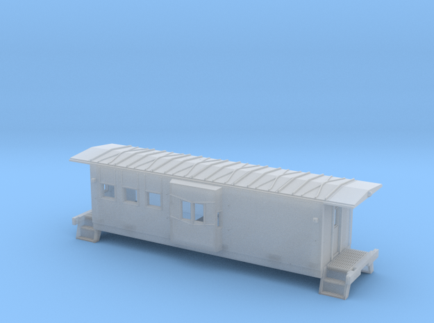 HO Chessie C-27 Caboose Shell in Smooth Fine Detail Plastic