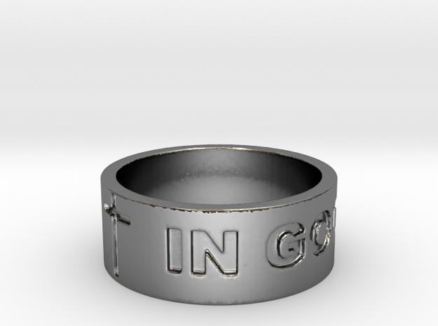 37 IN GOD WE TRUST V2 Ring Size 8.5 in Fine Detail Polished Silver