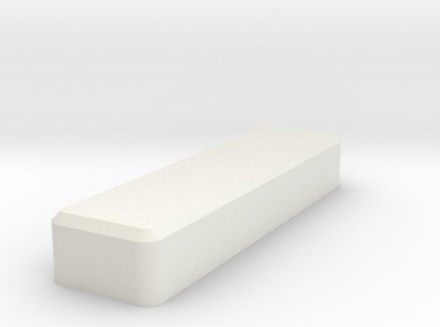 Silo75C Backplate in White Natural Versatile Plastic