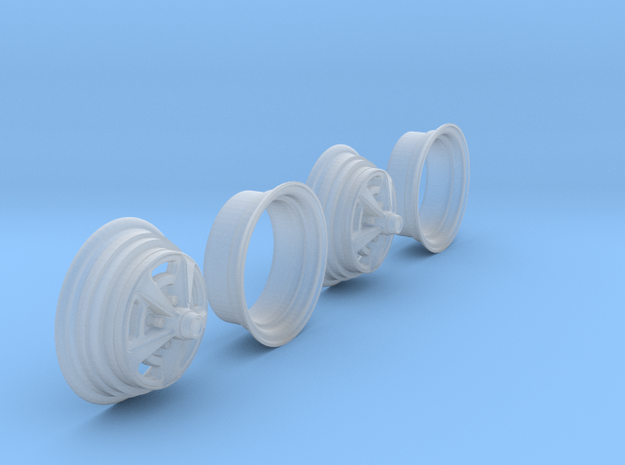 1/25 HQ GTS Wheels 8x14 2up 2pc in Smooth Fine Detail Plastic