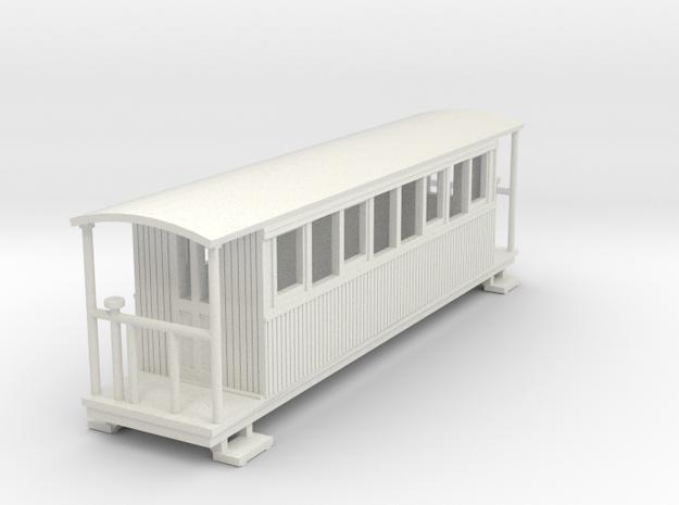 o-100-redlake-tramway-bogie-coach in White Natural Versatile Plastic