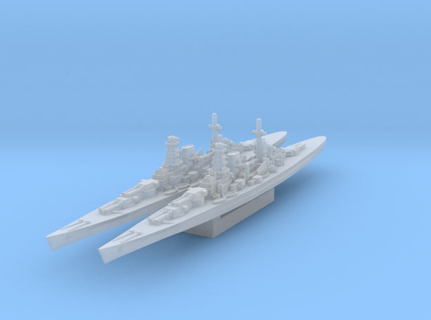 Kronshtadt 380mm guns BB-length (Axis & Allies) in Smooth Fine Detail Plastic