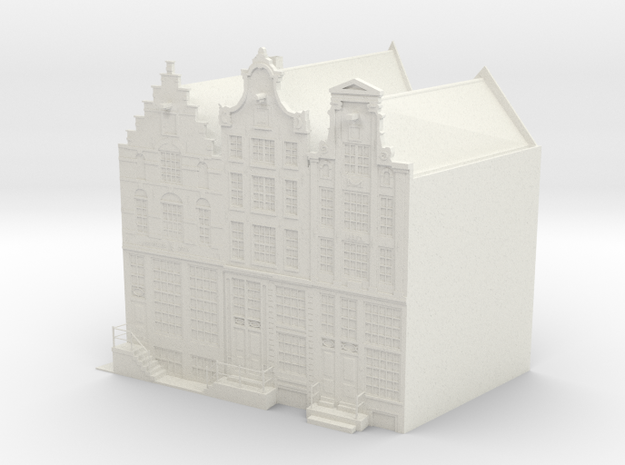 Canal houses Amsterdam Prinsengracht (small) in White Natural Versatile Plastic
