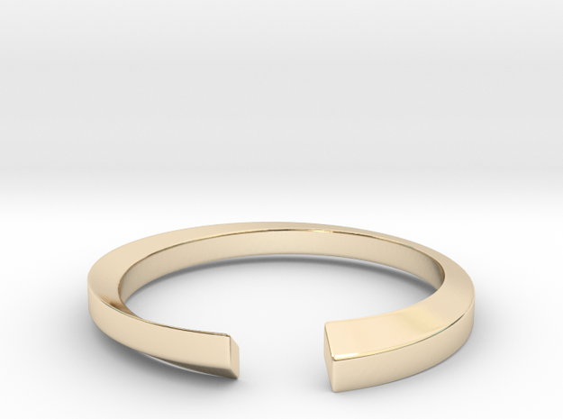 Rhombic Contrary Ring in 14k Gold Plated Brass: 8 / 56.75