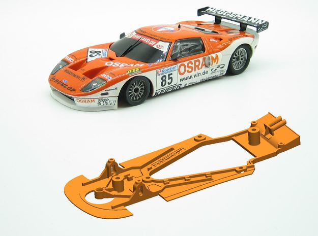 PSNI00302 Chassis for Ninco Ford GT GT3 in White Natural Versatile Plastic