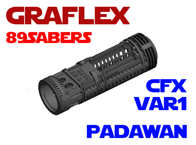 Graflex 89Sabers - Padawan Var1 CFX in White Natural Versatile Plastic