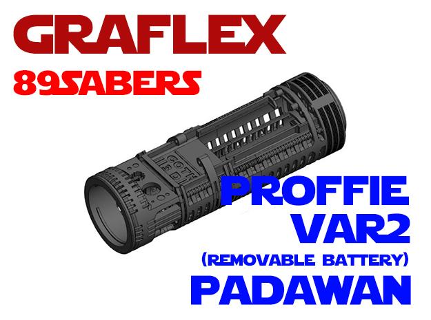 Graflex 89Sabers - Padawan Var2 Proffie in White Natural Versatile Plastic