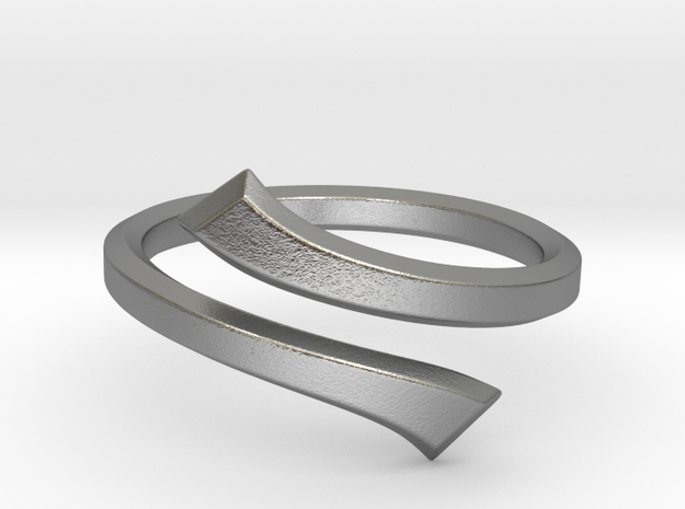 Streamline Hexagon Open Ring in Natural Silver: 8 / 56.75