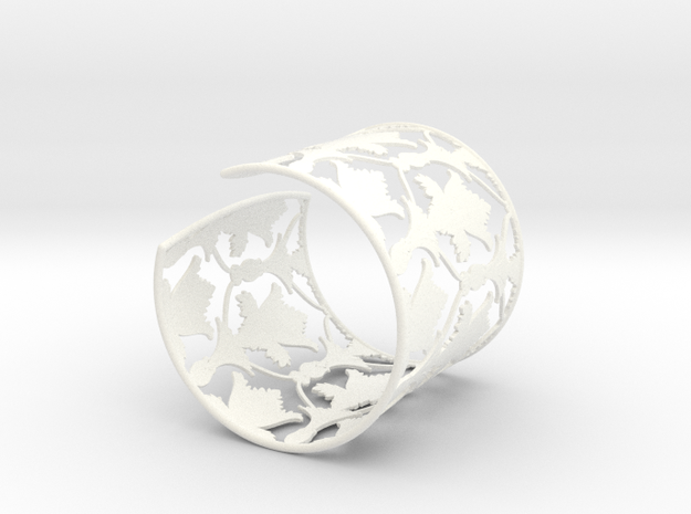 Sherlock Cuff: Solid version - Size S in White Processed Versatile Plastic