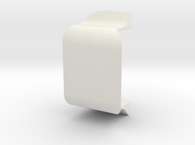 Terra Scorcher Enclosed Battery Holder  in White Natural Versatile Plastic