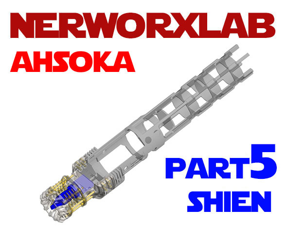 NWL Ahsoka - Shien Chassis Part5 in Smooth Fine Detail Plastic