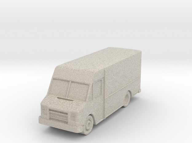 "Delivery Truck At 1""=8' Scale in Natural Sandstone"