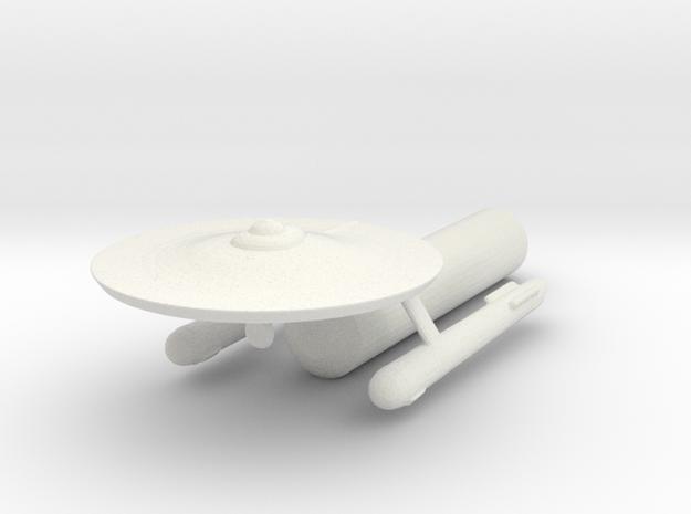 USS Ptolemy in White Natural Versatile Plastic