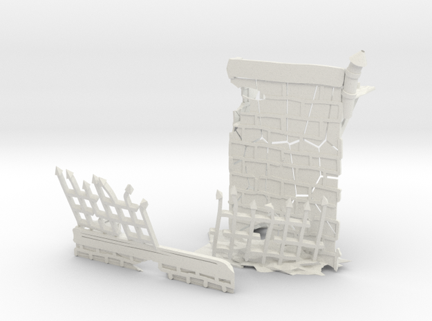 Brave Victorian Building. in White Natural Versatile Plastic