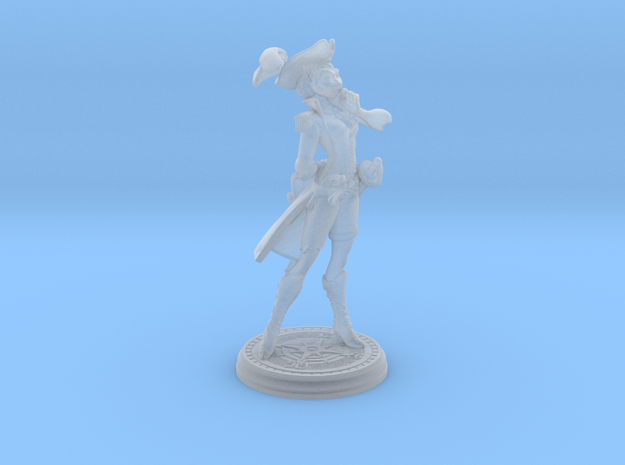 amelia 28mm in Smooth Fine Detail Plastic
