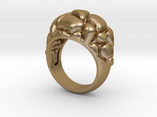 Woman's Future Ring, Gold Steel, with 573 code in Polished Gold Steel