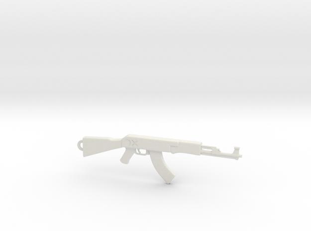 AK Pendant in White Natural Versatile Plastic