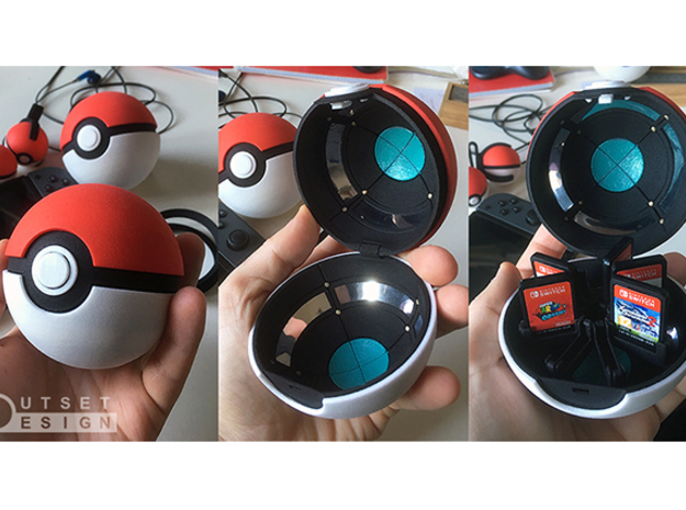 Pokeball - Lower frame - 1:1 scale in Black Natural Versatile Plastic