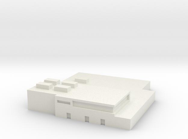 Papa Air Base Terminal 1:1200 & 1:400 Scale in White Natural Versatile Plastic: 1:1200