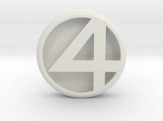 Fantastic 4 Emblem in White Natural Versatile Plastic