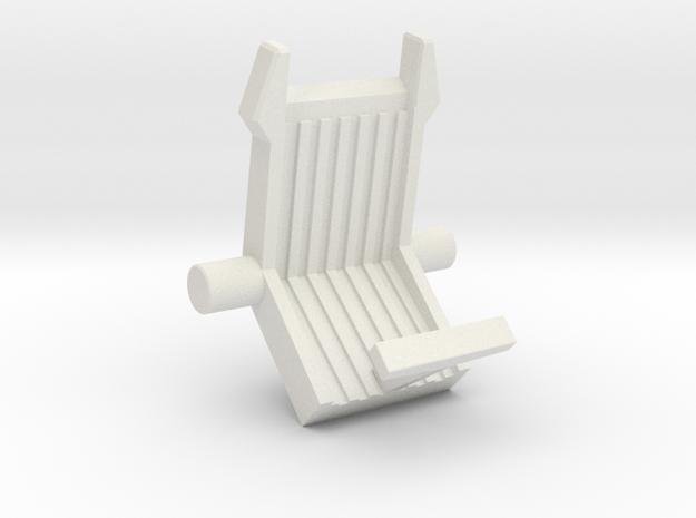 PaleoRider Chair, 5mm/Dino Strike compatible in White Natural Versatile Plastic: Small