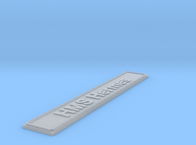 Nameplate HMS Hermes in Smoothest Fine Detail Plastic