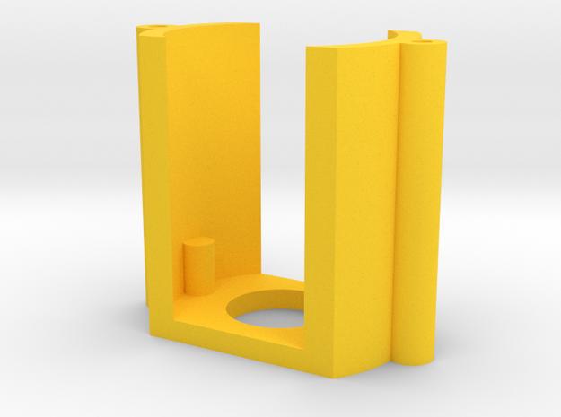 130 dc motor mount in Yellow Processed Versatile Plastic